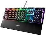 SteelSeries Apex 5 - Hybrid-Mechanische Gaming Tastatur - Tastenweise Rgb-Beleuchtung - Oled Smart-Display - Deutsches (Qwertz) Layout [